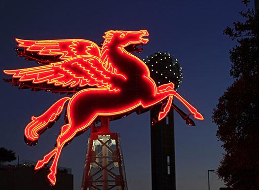 Dallas Neon Horse Sign
