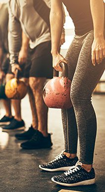 Group Exercising Kettlebells